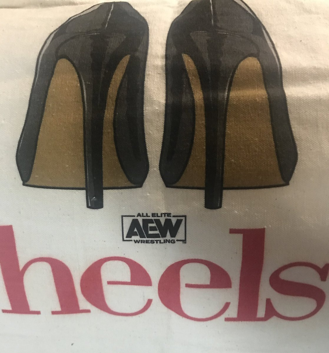 Got my tote! Glad it came in and I'm happy I was one of the first 100. I usually suck at making cut offs; always  late to the game, but not this time.😉#AEWHeels #AEW