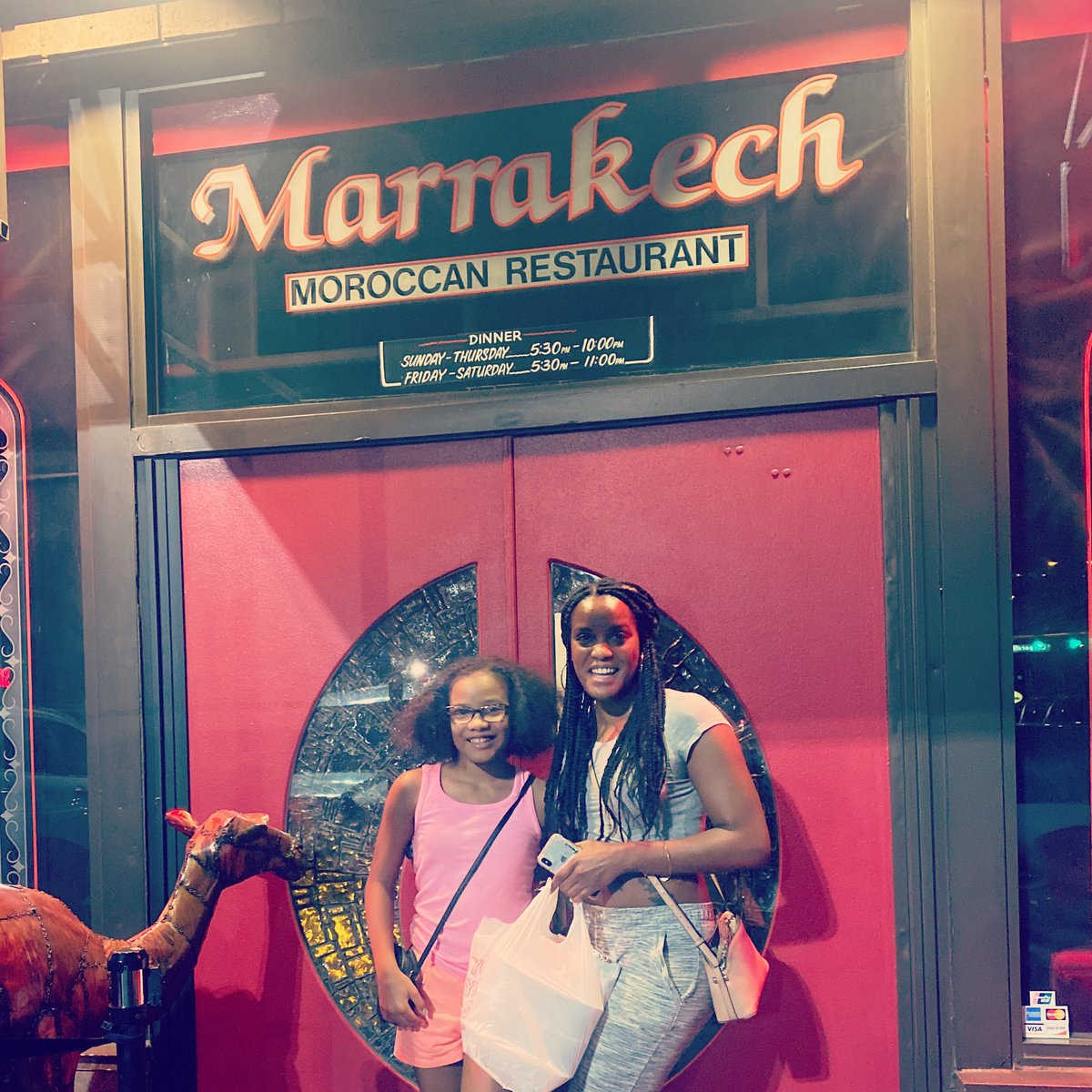 Mackenzie and Shawn enjoying a girls night out together!  #GirlsNightOut #fun #marrakechpic.twitter.com/6LhKR14Wkn