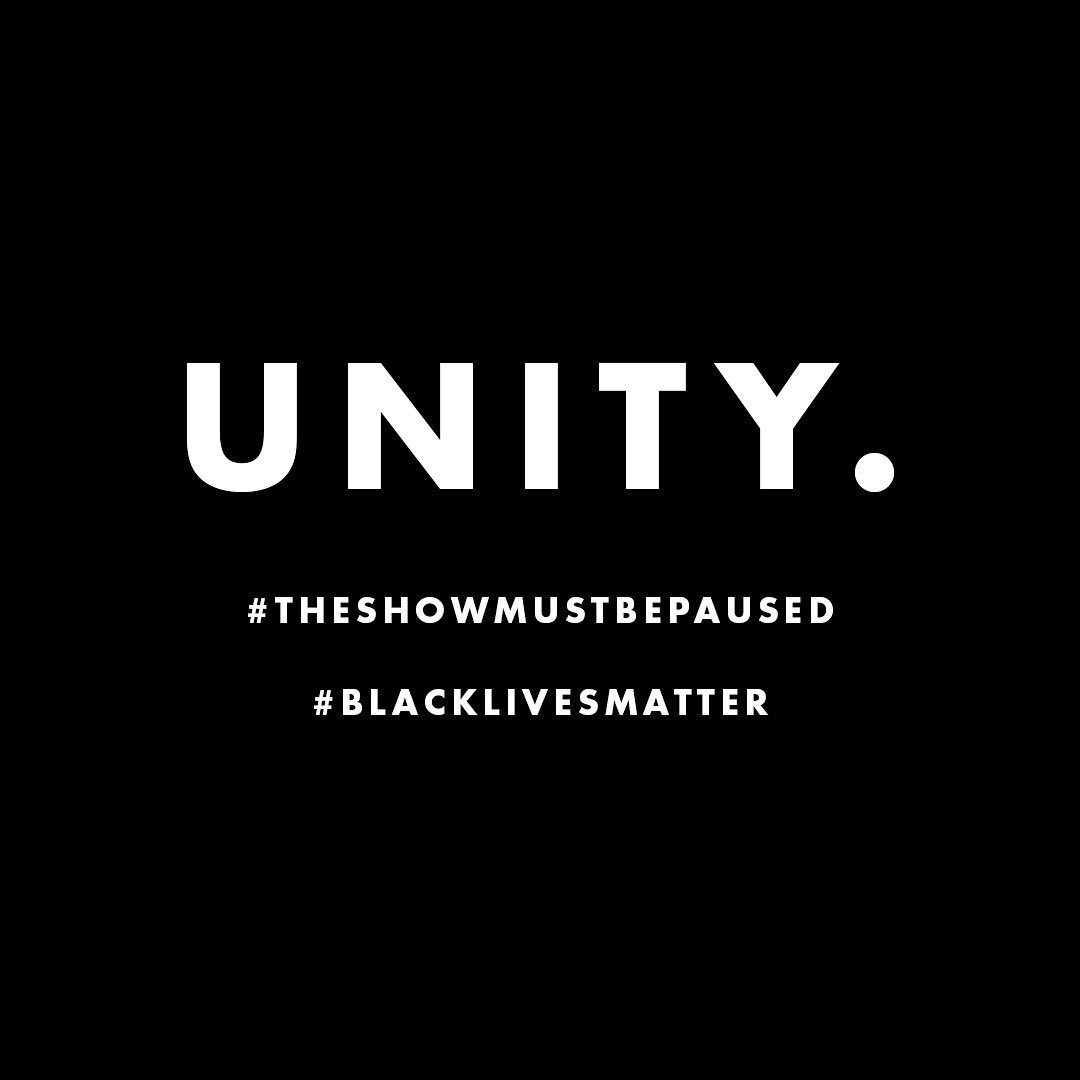 #BlackLivesMatter #TheShowMustBePaused https://t.co/R5382oMi00