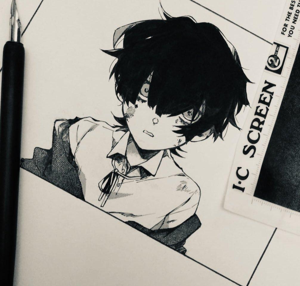 traditional method #anime #manga #mangaka #ink #漫画 #青年 #少年 #少女 #漫画家 #花 #レルア #私の漫画 #ハートのエース #doodling #doodle #mangaart #animeart #mangakasart #panel #QuarantineLife #workpic.twitter.com/yzehP55LaZ