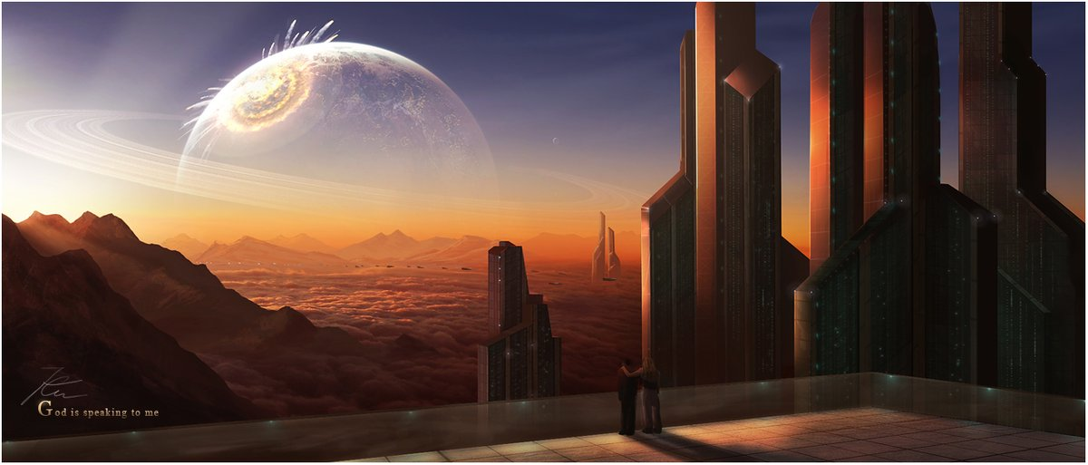 "#SciFi #Space #Art: #asteroid impact? ""God is Speaking to Me"" by Akajork  via @deviantART"