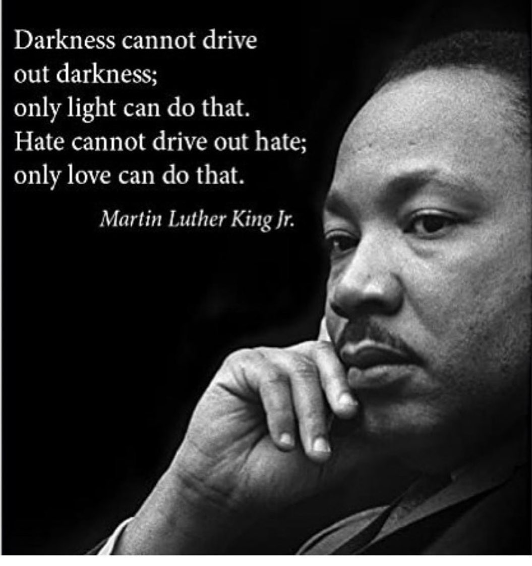It hurts to see our country being torn apart by racism & hate. I can't pretend to understand what black men & women have experienced but I can speak out & condemn racial inequality. I hope love for all mankind can prevail & make changes to build a better future for our children