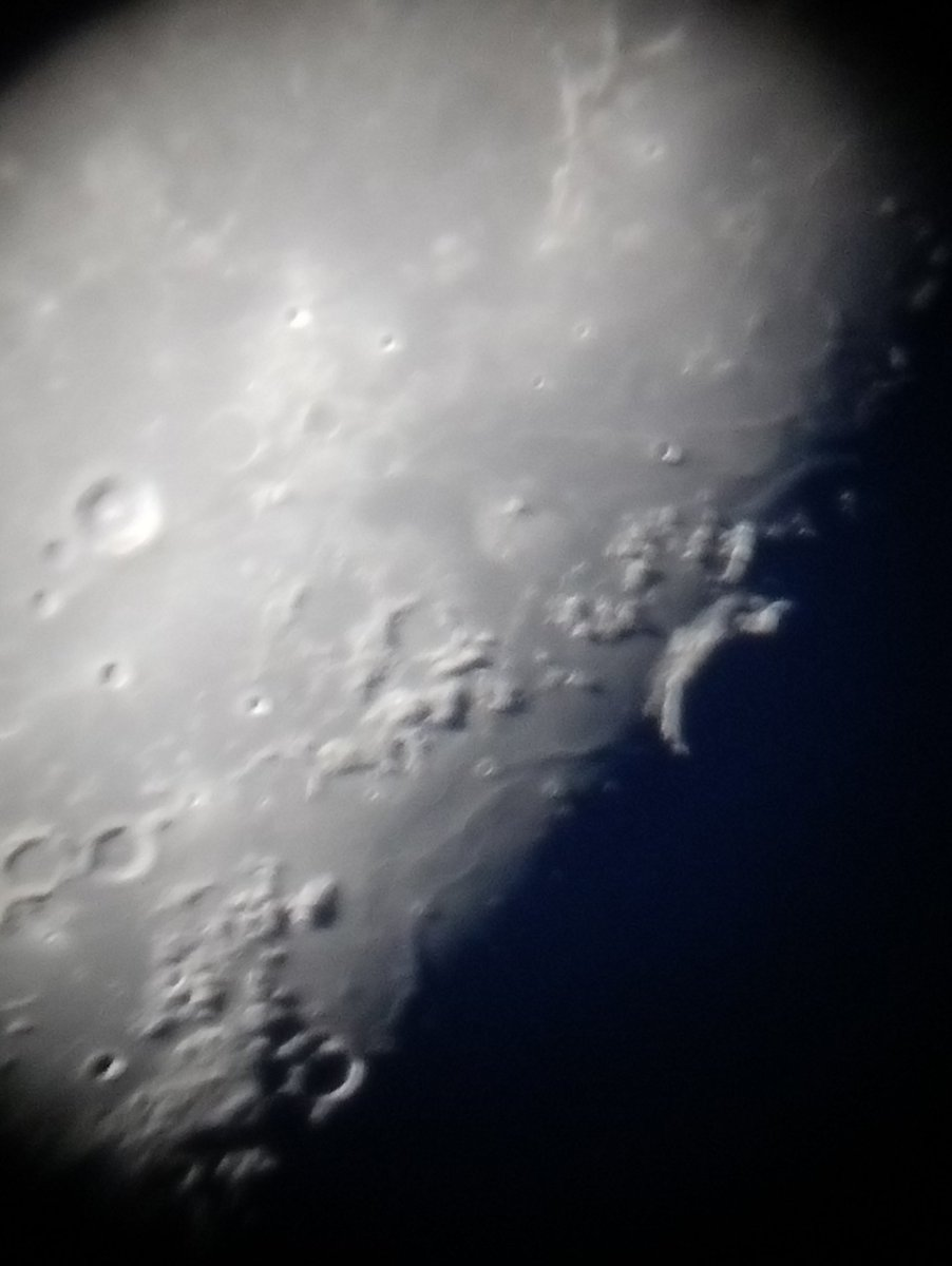the moon tonight, up close and personal 😁 #Moon #space #Astrophotography