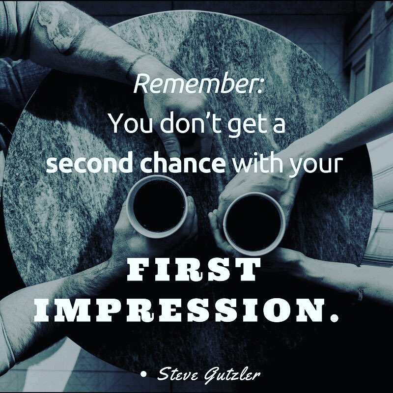Remember: You don't get a second chance with your first impression. Be intentional and make them count. #Leadership #Sales https://t.co/d5uSIuBsDe