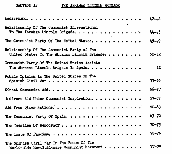 """1948 FBI report from an earlier time when an antifascist movement was declared """"an actual menace to the security of the United States."""" Americans who supported the Republic in Spain's Civil War were pursued for decades after by their own government. https://t.co/e325rh6XXd https://t.co/Bv9ZQzjHh4"""