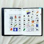 Image for the Tweet beginning: 5月のマンスリー。 5月は色を付けてみました。 . . . #ほぼ日手帳 #ほぼ日 #ほぼ日プランナー #ほぼ日手帳2020 #hobonichi #hobonichitecho #hobonichiplanner #planner
