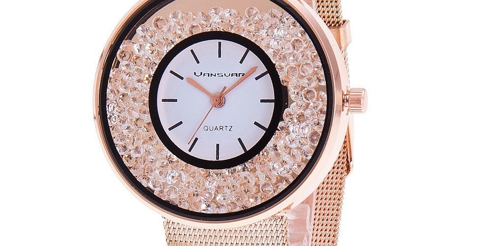 #shopsmall Women's Watches with Rhinestones Dial