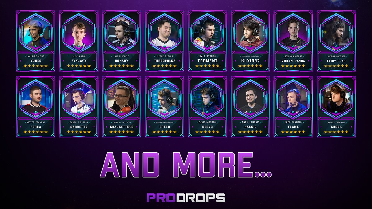 Here are some of the players you can find on ProDrops 👀 Want to see your favorite RLCS player in the game? Tag them in the comment below and ask them to join the game!👇