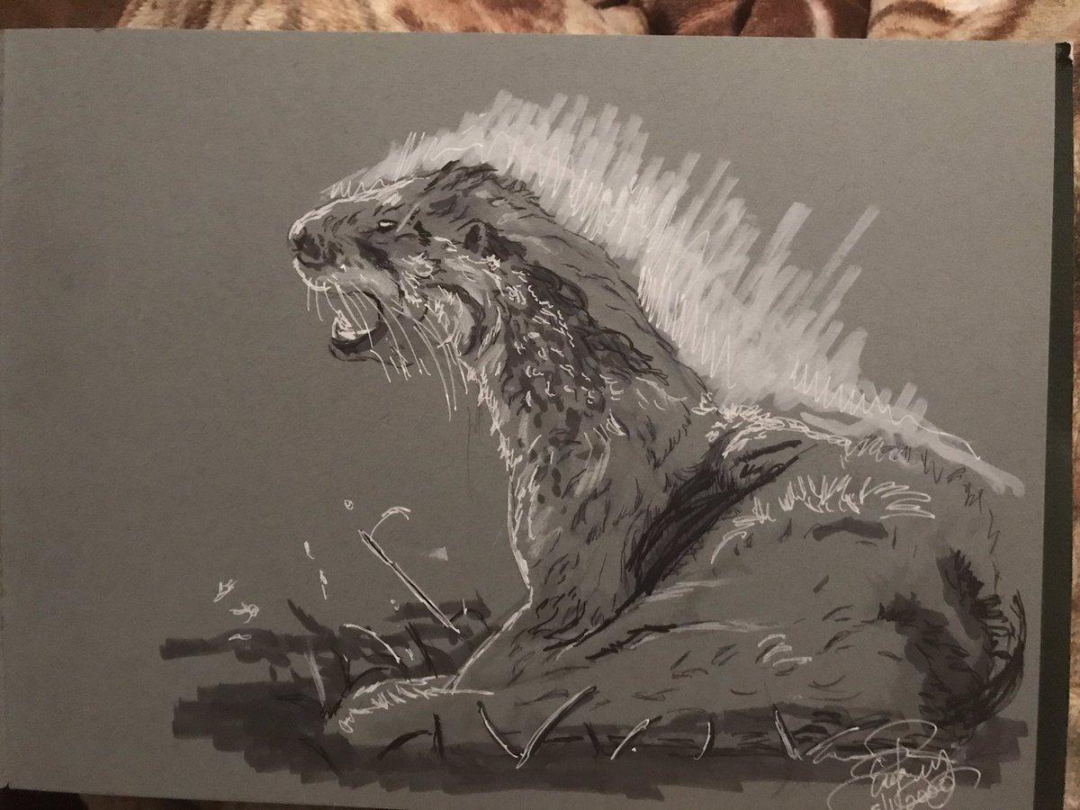 Ink and marker using animal photo reference pack by @dustin_blaise #ink #marker #arteverday #artistlife #otter #photoreferencepackpic.twitter.com/85Spq6pCLt