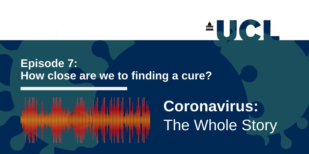 Are we close to finding a Covid-19 cure? Listen to our latest 'Coronavirus: The Whole Story' podcast episode with Profs Suzie Farid (@UCLBiochemEng1), @BallouxFrancois (@UGI_at_UCL), @judith_breuer (@UCLInfectImm) & Dr Richard Angell (@School_Pharmacy): https://t.co/ShB2bD82s4 https://t.co/byNENdkRJD