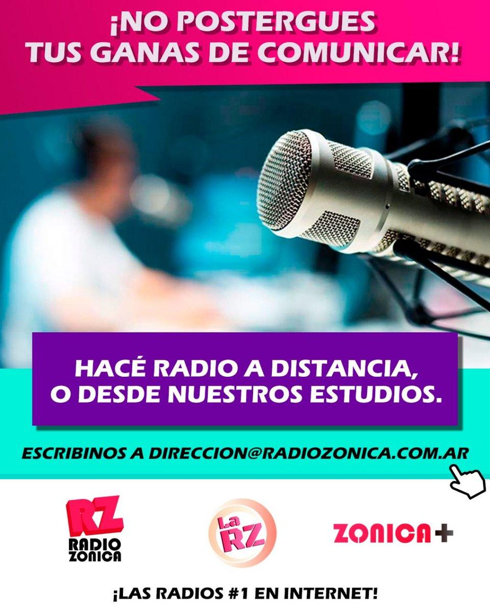 Cuando hacés lo que te gusta, el tiempo pasa más rápido. ¡Hacé radio en el #GrupoZonica! Te damos la posibilidad de transmitir desde tu casa, o desde nuestros estudios. direccion@radiozonica.com.ar   #RadioZonica #LaRZ #Zonica+pic.twitter.com/Sw3msHT4qa