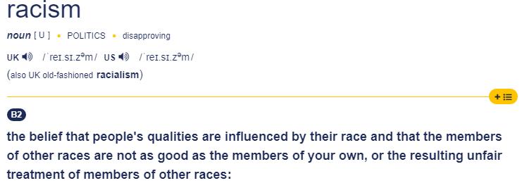 Rassismus gegen Weiße