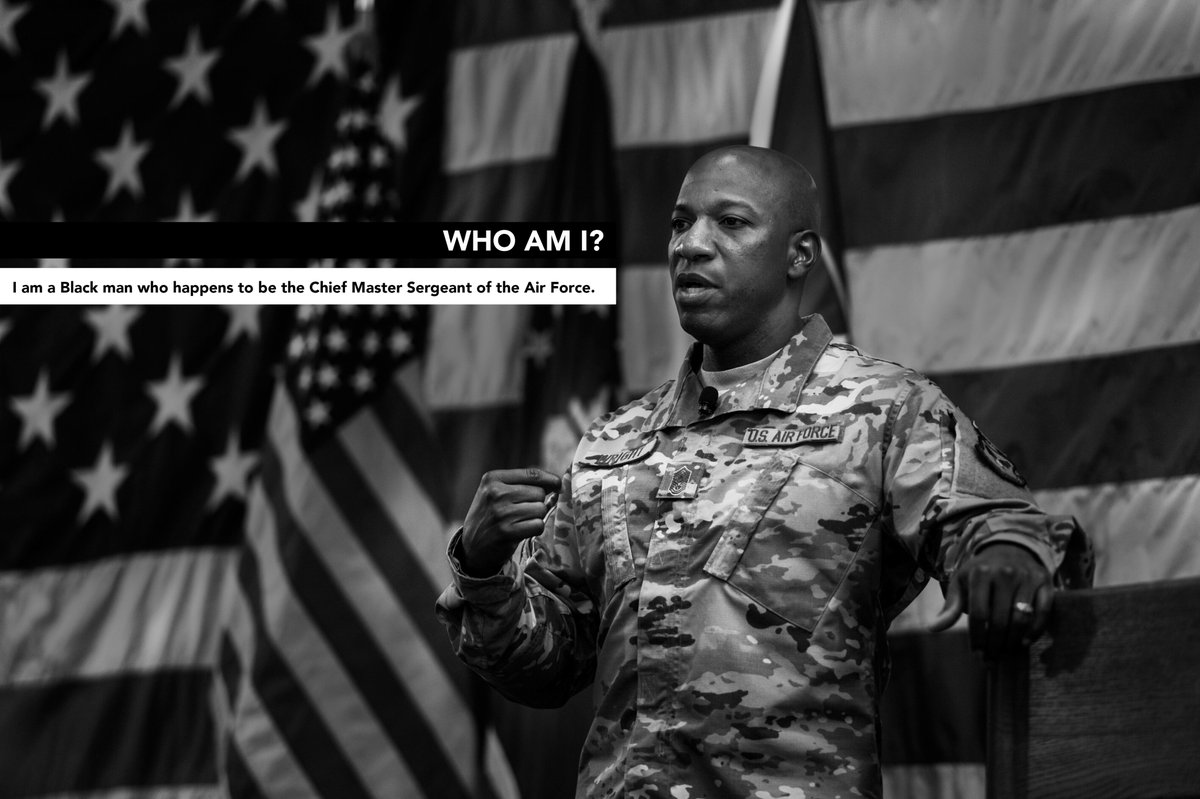 Who am I…  I am Kaleth. I am a Black Man who happens to be the Chief Master Sergeant of the Air Force and I am committed to making this better.  (31) https://t.co/Dr43oYL9qi