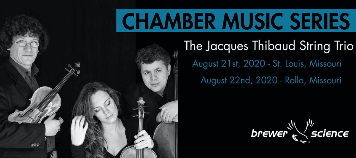 test Twitter Media - Brewer Science is excited to announce we will once again bring world-class classical music to Missouri. The Jacques Thibaud Trio will be performing 2 concerts in August.   Learn more about the concert series on our website:(https://t.co/N8mUUo069L) https://t.co/GIgyVYzhOf