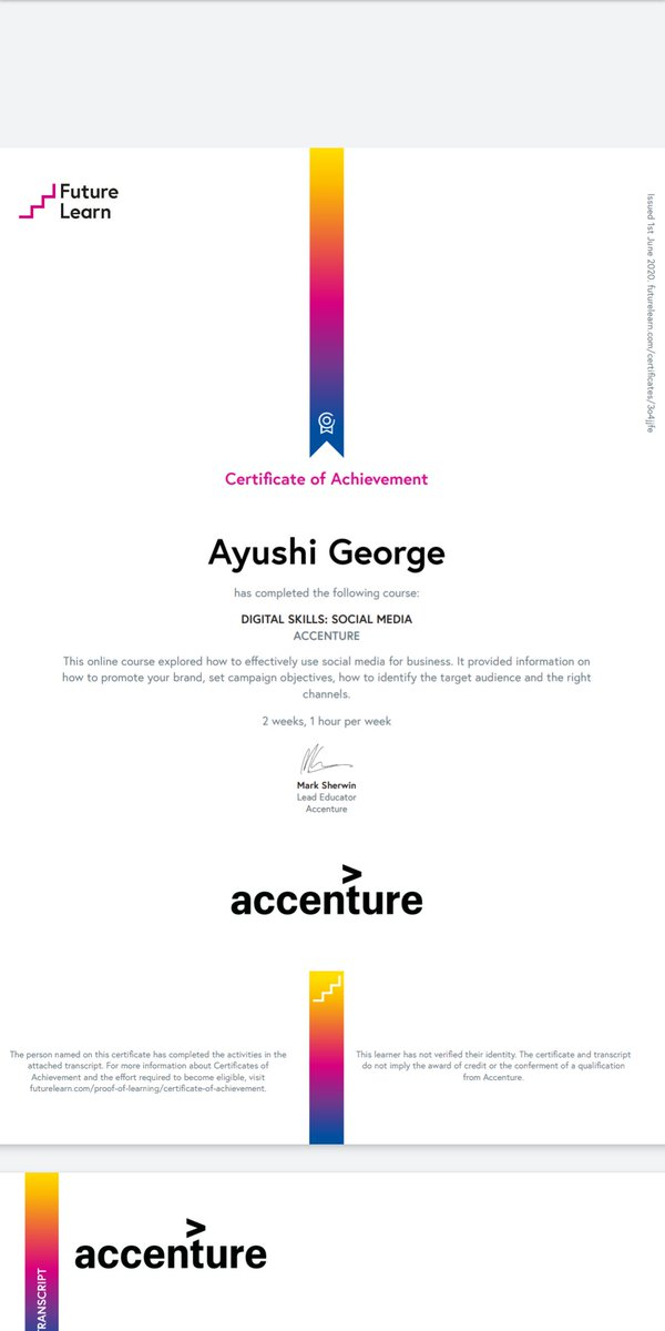 #7 #ecertificate #accenture #onlinemarketing #DigitalMarketing
