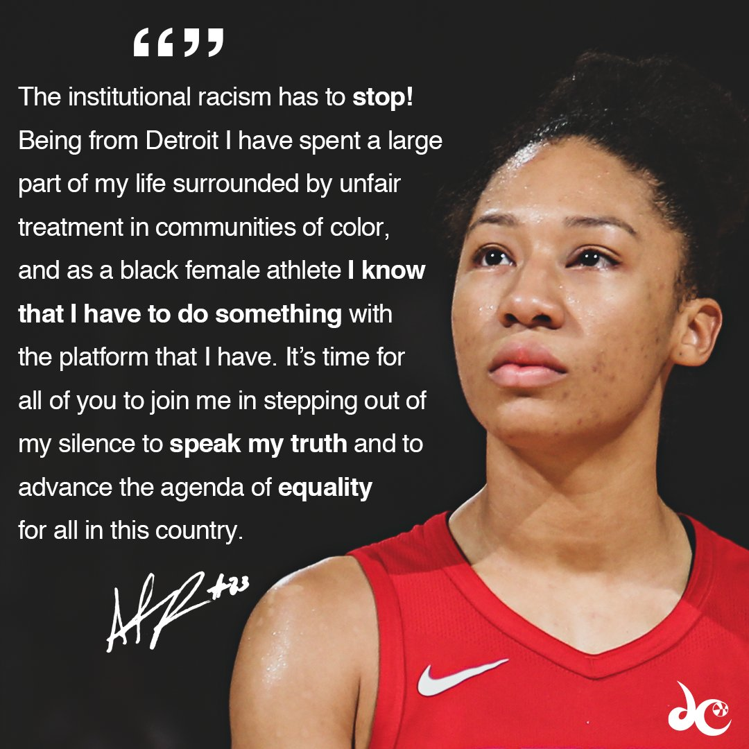 .@aerial_powers23 encourages you to use your voice to denounce racial inequality and brutality. https://t.co/tayHC1GBF0