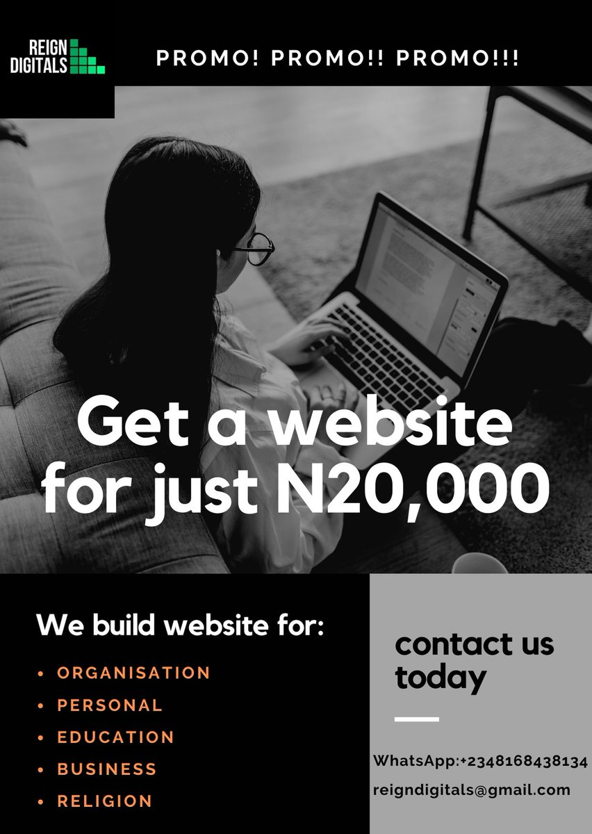 Reign Digitals promo on website is still available. Hurry now! #nigeria #lagos #beauty #Entrepreneur #trading #Logodesigner #webdesigner #graphicdesigner #seo #DigitalMarketing