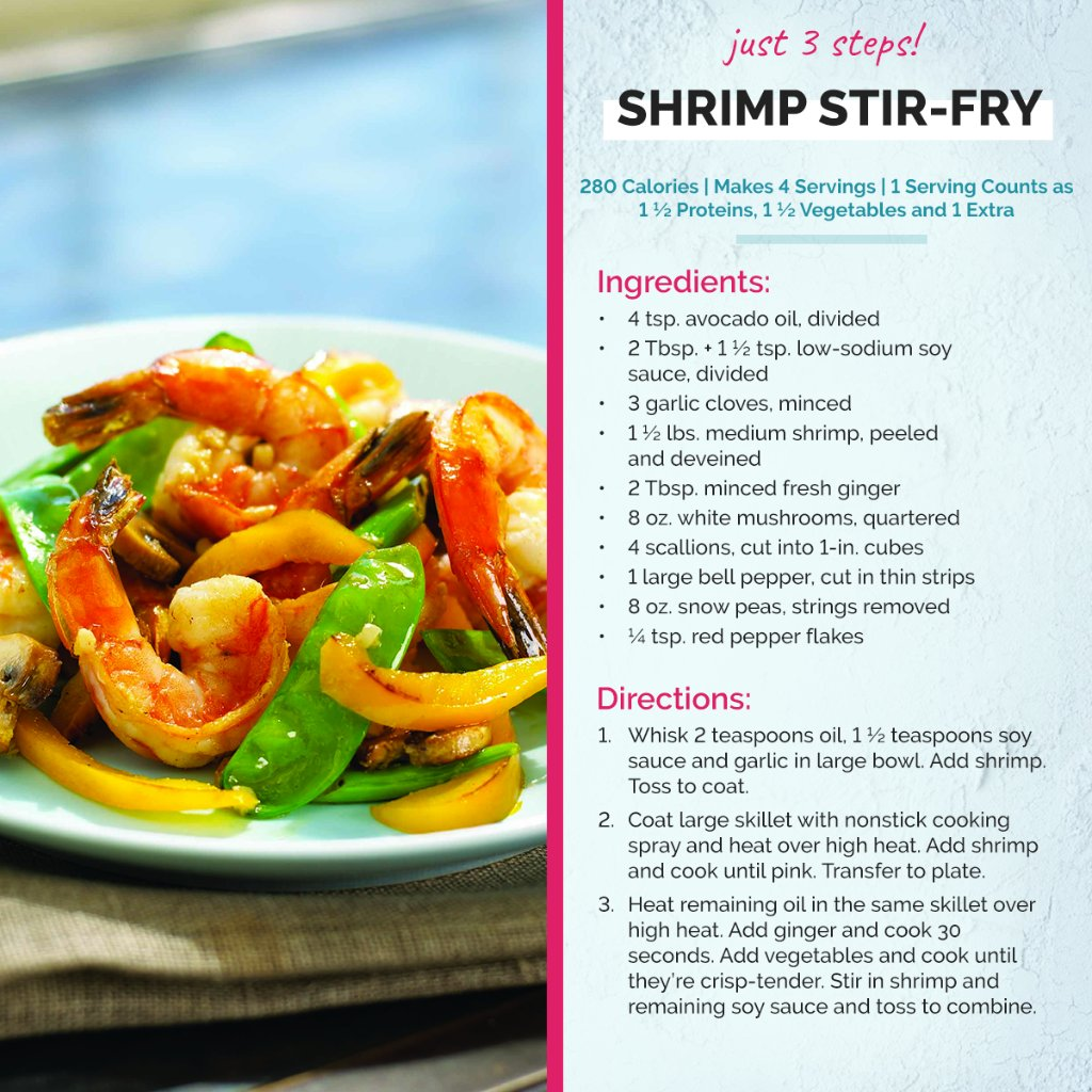 This is one of our favorite low carb dinners! #shrimpstirfry