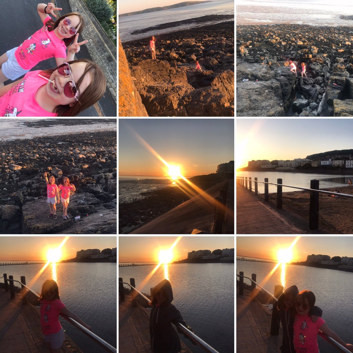 Lovely walk this evening with my mini-me's 👩👧👧 #lockdown #sunset