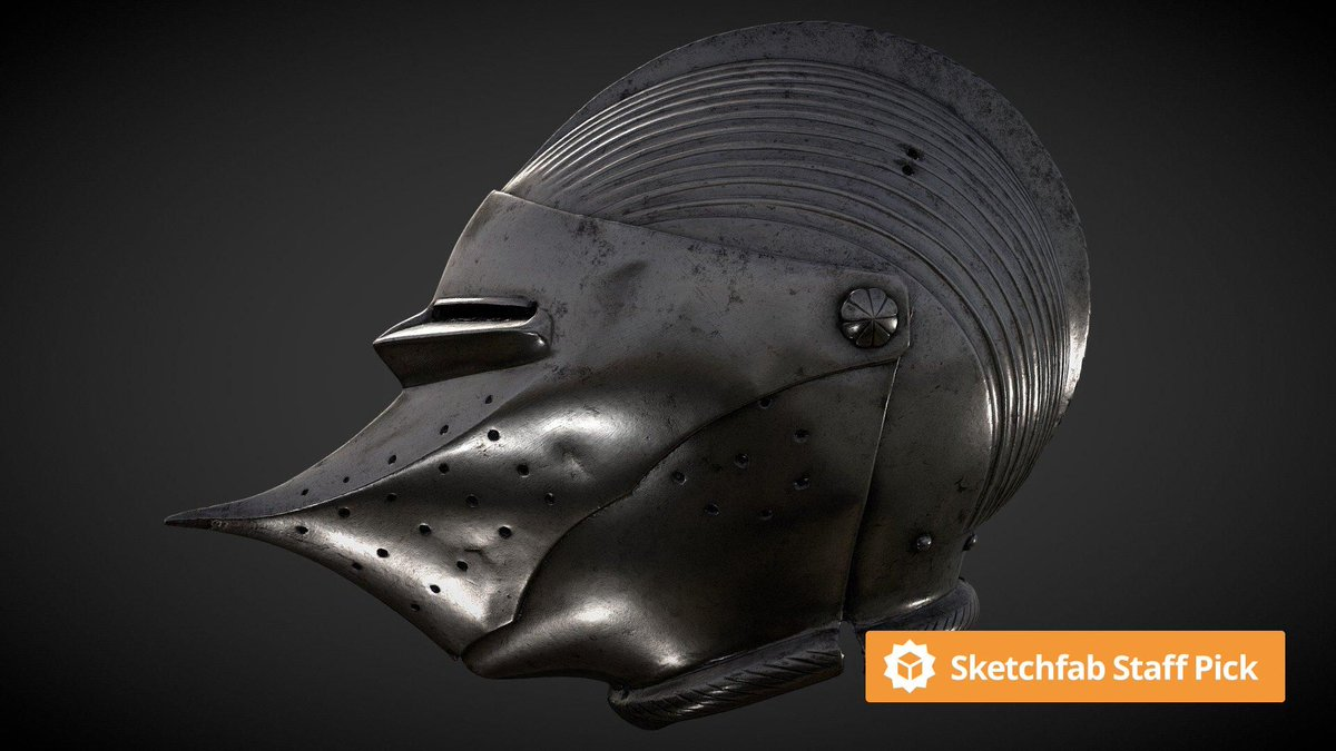 New staff pick: Helmet with Beaked Visor by @Livrustkammaren. Check it out in #3D, #AR or #VR: bit.ly/3ezq67D