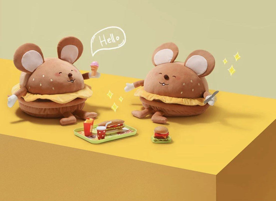 Add something fun to your children's bedroom with the Mouse Stuffed Animal.🐭🐭🍔  Foldable Cushions. The Burger Mouse features delicate sewn ears, cheese, and other cute details. Learn more here:   . #lifease #lifeaseproducts #cushion #plushy #stuffie