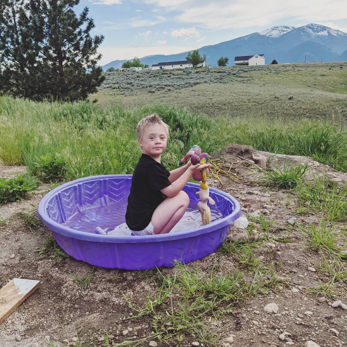 Spa day!  #spaday #Montana #howwedo #Montana406 #water #hotday #DownSyndrome #specialneeds