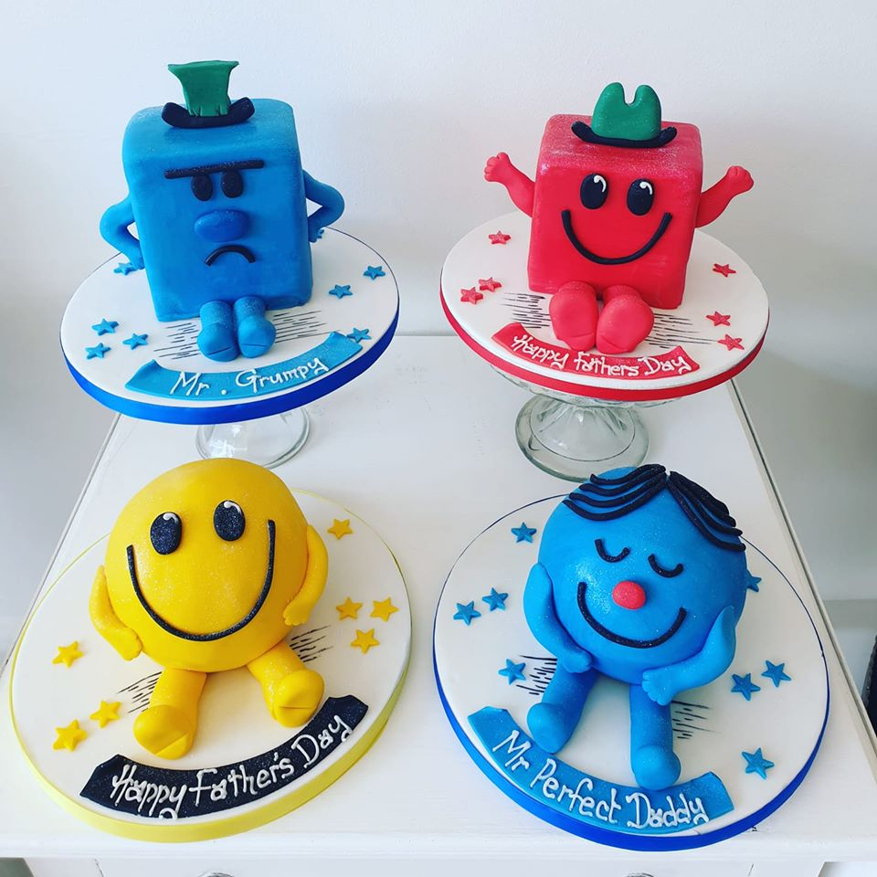 Fathers Day Mr Men Cakes!!! £29.99 #MrStrong #MrGrumpy #MrPerfect #MrHappy Order Yours Now 01614566061 #fathersdaygiftideas #FathersDay #FathersDayGifts #FathersDayGifts #cakes #Stockport #Manchester #Cheshire #Knutsford #Sandbach