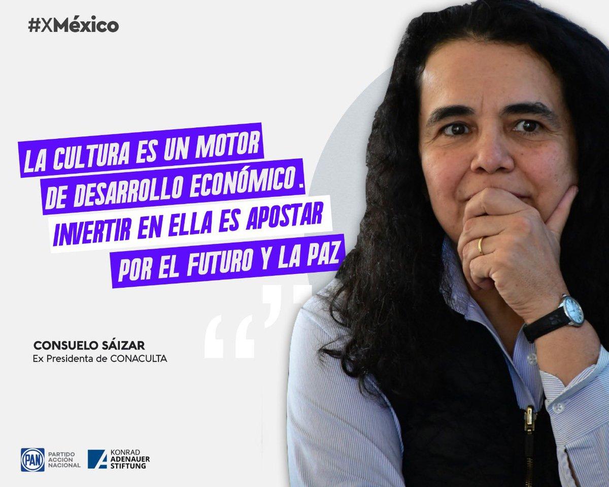 """""""Invertir en cultura es la mejor inversión que se puede hacer"""". @CSaizar   Ideas y Acciones #XMéxico  @kasmexiko https://t.co/TRKohDLsMM"""