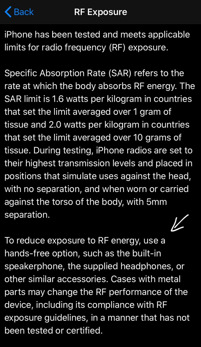 YOU are falling for THEIR tricks. to find this on iphone go to general, legal and regulatory, rf exposure  #radiation #government #phone pic.twitter.com/qwTrWP7sX3