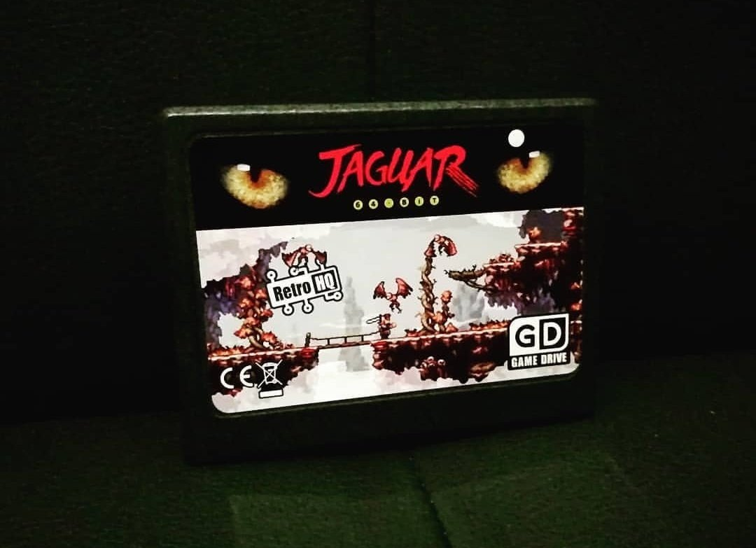 I finally start a week off work after solidly being busy and stressed with a project, and look what arrives with perfect timing...  The Atari Jaguar GameDrive from @TheRetroHQ!  It works brilliantly and is a beautiful little addition to any Jaguar collection. First up? Skyhammer! https://t.co/3m9hacUzOY