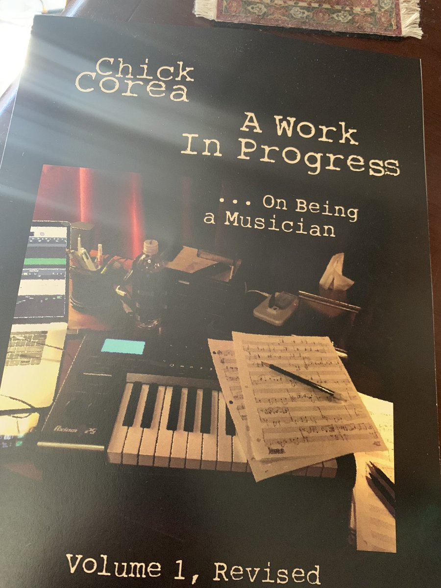 Thank you Mrs. Postlady for delivering this! Can't wait to dig in. And of course: thank you @ChickCorea for sharing your wisdom with us!  #chickcorea #musician #progresspic.twitter.com/Uak55fOSPr