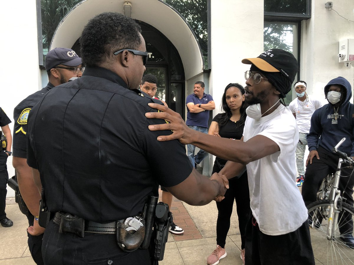"""I appreciate you listening."" Want to make sure this is seen. Columbia, SC #GeorgeFloydProtests"