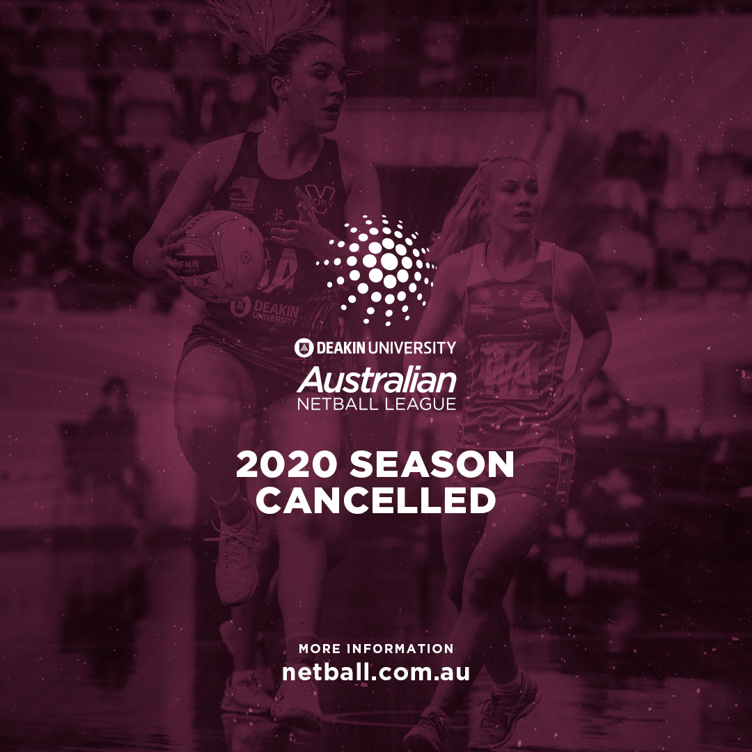Due to financial pressures and inconsistent restrictions on training and matches between states and territories, the 2020 Deakin University Australian Netball League (DUANL) season has been cancelled.   Full details - https://t.co/3mw2j6cnNZ https://t.co/nG0lwqJZ0s