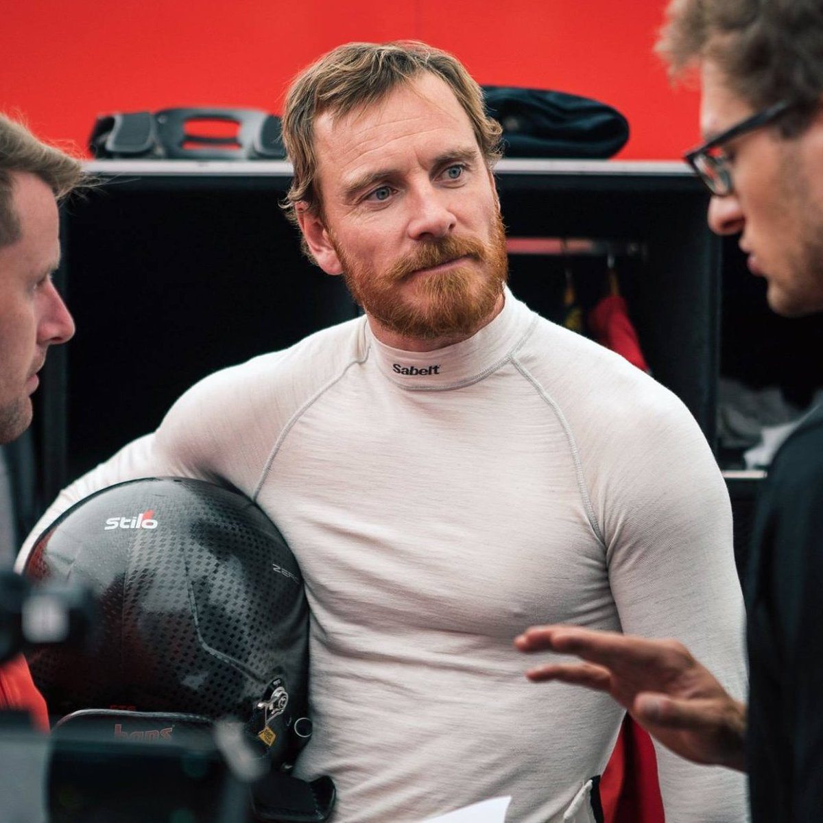 Ferrari, Porsche and Rally Of The Lakes  #MichaelFassbender pic.twitter.com/s5frftTtux