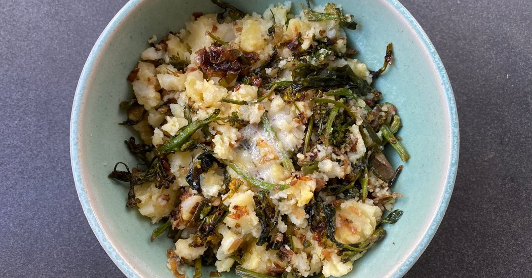 #Food #Wine: Potatoes, Greens and So Much Comfort This riff on an Irish colcannon is among the most filling, nourishing dishes you could make.