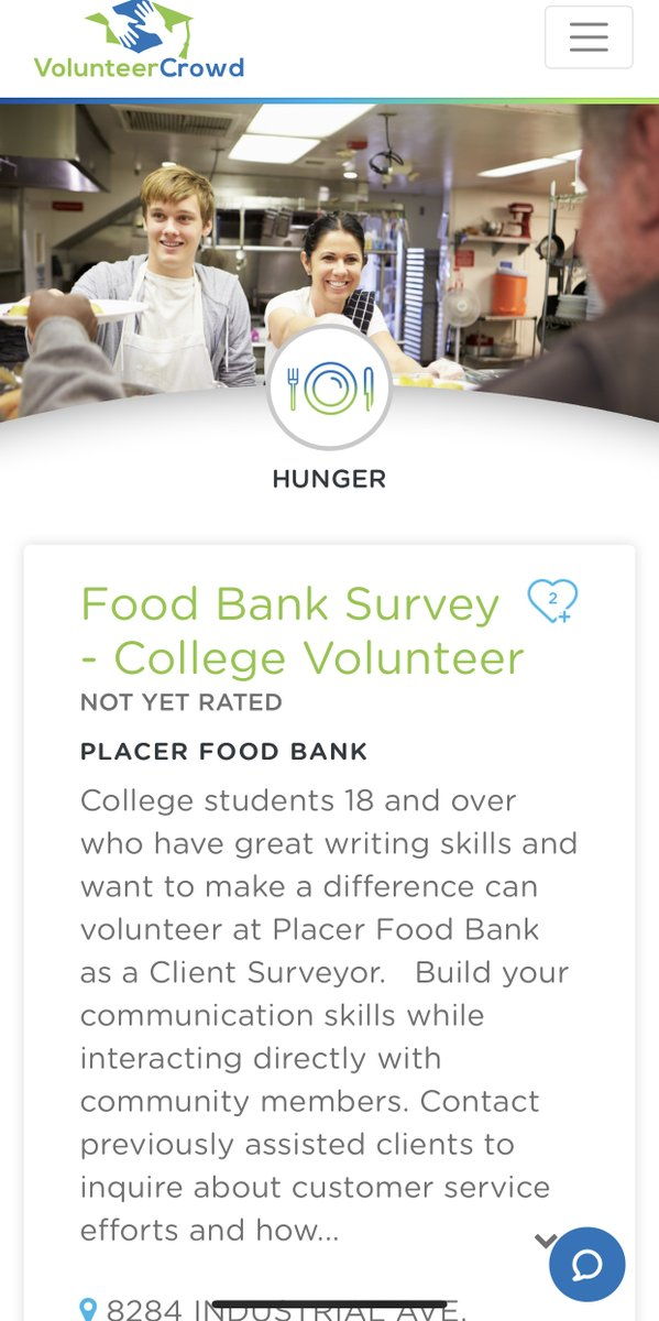 #VirtualVolunteer Project: @PlacerFoodBank needs volunteers to follow up with clients to find out about their amazing experience - . #Students #Teachers #Education #StaySafe #HomeTogether #Kids #EdChat #College #Communication #Food #FoodBank #Volunteer