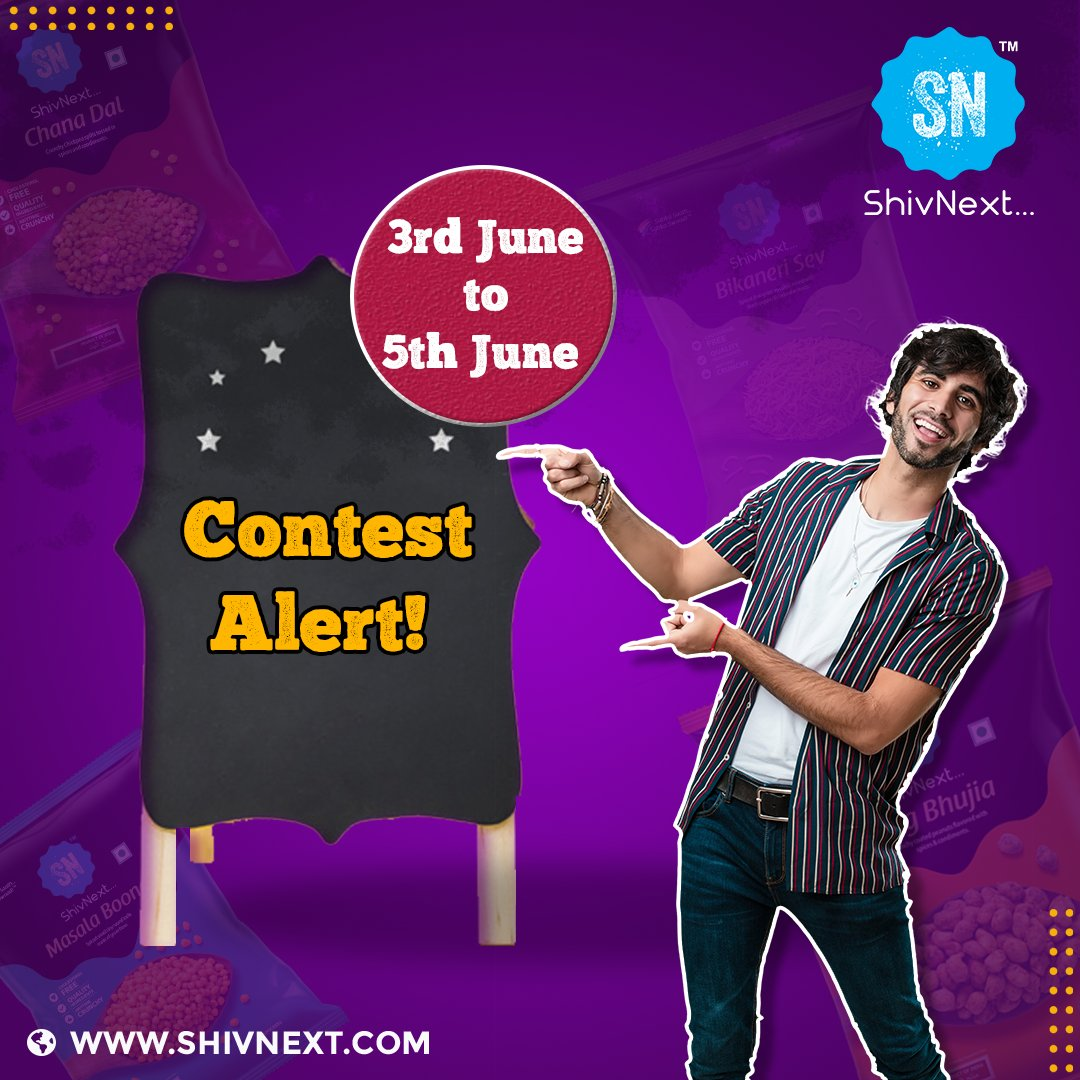 Contest Alert! ShivNext is going to conduct a contest from 3rd June to 5th June. Stay tuned to get the amazing gift hampers waiting for you.  #ShivNext #Food #foodie #travel #yammy #Instafood #foodies #healthy #prize #namkeen #snacks #sweets #Australia #comingsoon #Brisbane