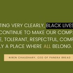 Image for the Tweet beginning: At Panera, we WILL continue