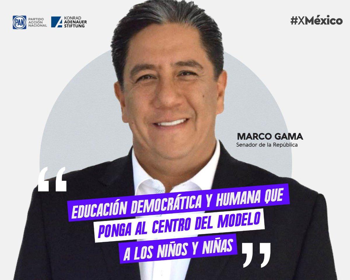 """""""Es necesaria una educación que ponga al centro del modelo a las niñas y niños"""". @MarcoGamaSLP   Ideas y Acciones #XMéxico  @kasmexiko https://t.co/zHuVNOK5U0"""