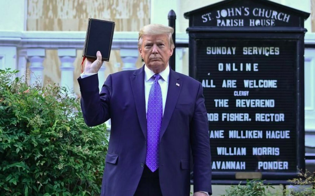 As an Episcopalian, I utterly disavow this use of my church as a racist prop.  As a Christian, I utterly disavow this use of scripture as a racist prop.  As a person of faith, I utterly disavow this use of God as a racist prop.  As a human being, I vow to work for love & justice. https://t.co/kusCdhVvuC