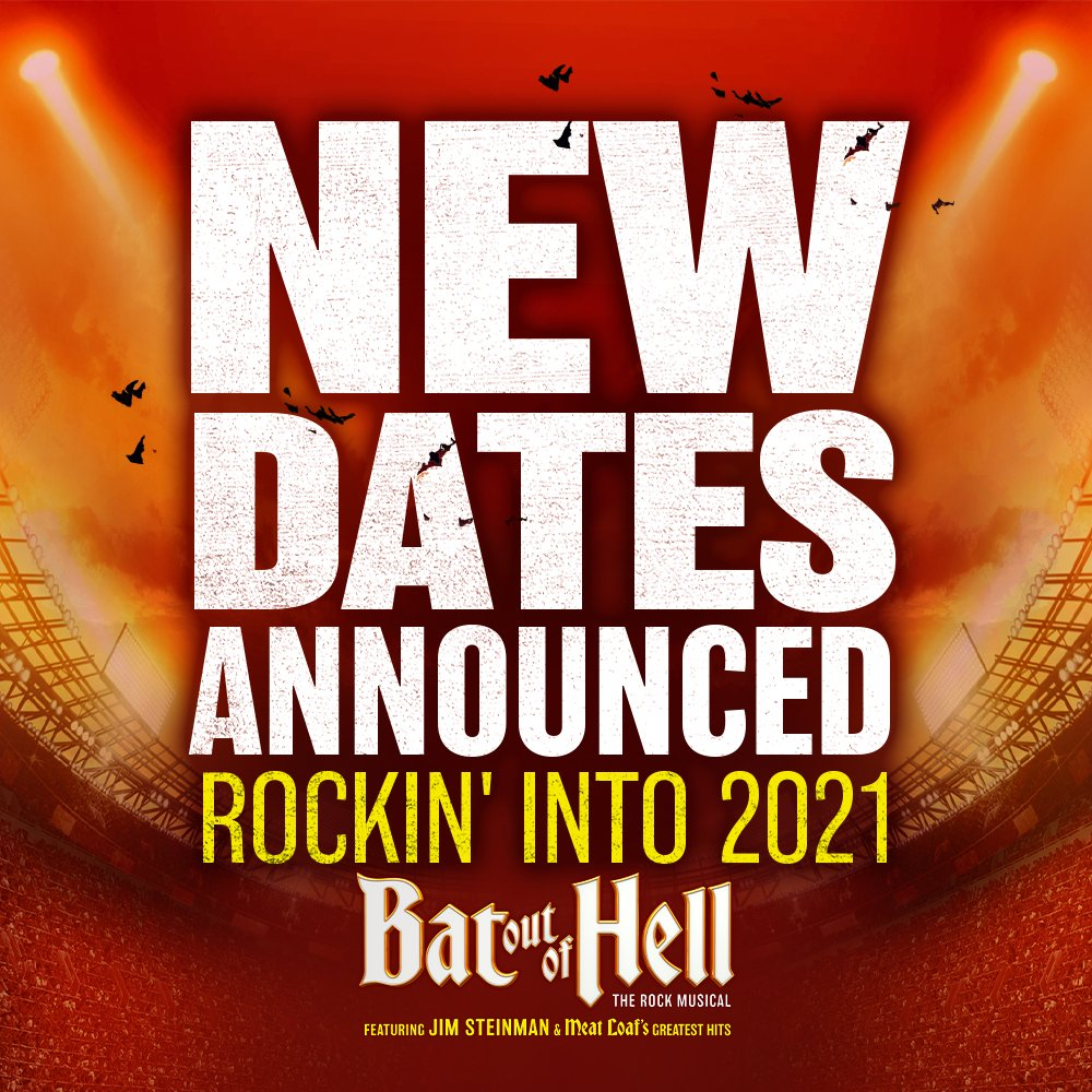 BAT OUT OF HELL - SHOW UPDATE! We have the rescheduled Sydney date for Jim Steinman's @BatTheMusical in 2021: Tuesday 18 May - right here at @qudosbankarena. Tickets will be valid for the new show date and Tickets for 2021 date on sale now → https://t.co/8VgN3h9YKM #batoutofhell https://t.co/7gec8mcd4y
