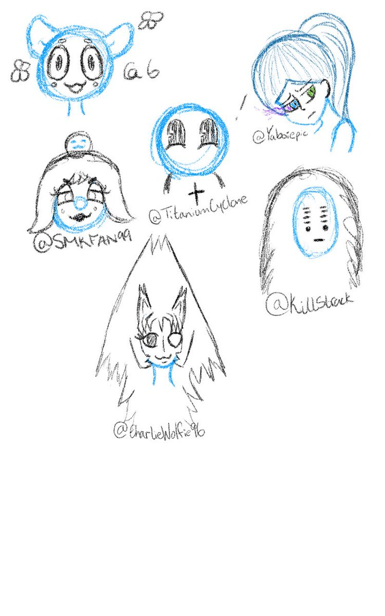 @6 @YaBoiEpic629 @TitaniumCyclone @killstrack @smkfan99 @charliewolfie96 here are some of the sketches that I did! Hope ya guys like them! #sketches #fun #haveagreatdaypic.twitter.com/jdQqEiUoUO
