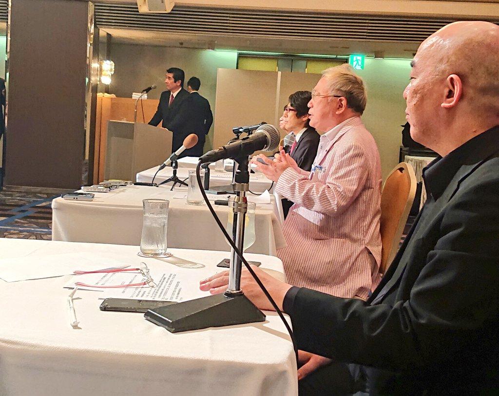 記者会見スタート。高須先生が「リコールの会」設立の趣旨を説明中。