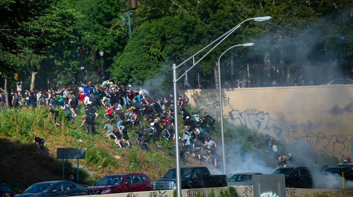 Photos: Police use force to quell protests nationwide as Trump threatens martial law