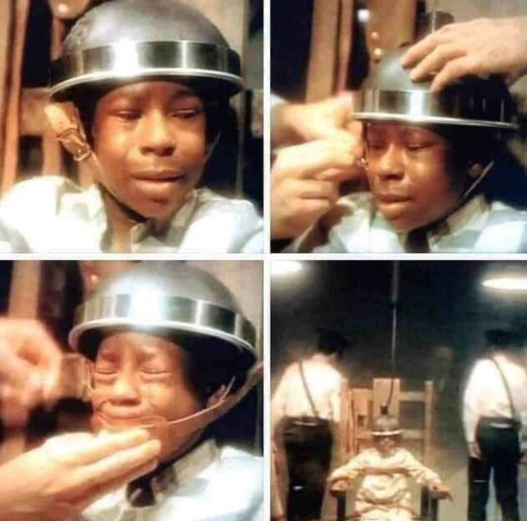 EEUU el país de DDHH George Stinney fue la persona+joven condenada a muerte en el siglo XX.Ejecutado en silla eléctrica a los 14años,acusado de matar 2niñas blancas,el jurado blanco.70años después,1juez demostró su inocencia. Sentenciado x negro Fuente @taniasandinista