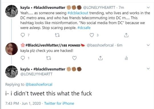 If you see this tweet it's extremely likely whoever tweeted it was hacked. Please spread this around. #BlackLivesMatter <br>http://pic.twitter.com/VDxF8qXKZM