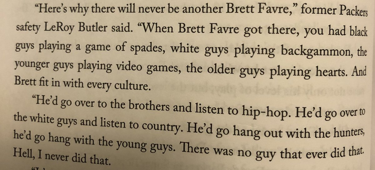 Pretty cool quote from @leap36 on @BrettFavre  (Makes me think of the times we're currently in 🤔)  #Packers #GoPackGo https://t.co/nrWwutF6co
