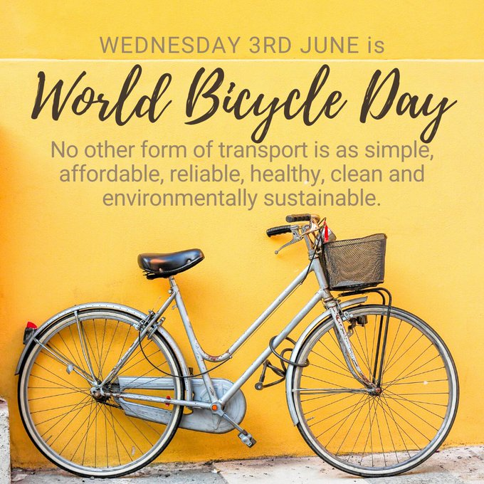 World Bicycle Day - 3 June