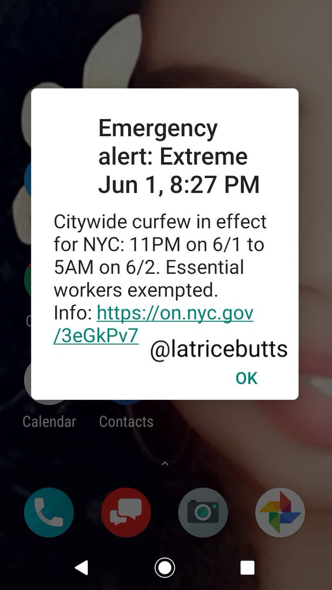 We've been on #Lockdown since #March2020 because of #Covid19 😷  The #Coronavirus was finally calming down here in #NYC with limited stores opened in #Manhattan   But since rowdy people that was up to no good 😡 marching for the #GeorgeFloydProtests started #NYCRiots now #Curfew