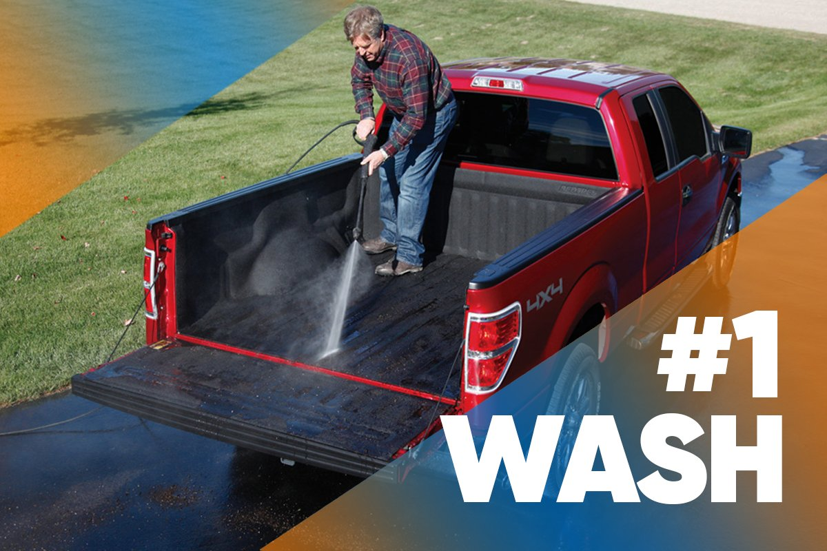 Step 1: Wash Remove the tailgate and set it on sawhorses. Sweep or vacuum dirt and debris from the bed and tailgate. Make sure any drain holes are clear.  Read More: http://bit.ly/howtoroll-bedliner… #trucknation #f150 #bedliner #truckaccessories #trucklife #truckpartspic.twitter.com/GMsDVLruSa